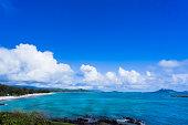 Kailua bay in Oahu Island