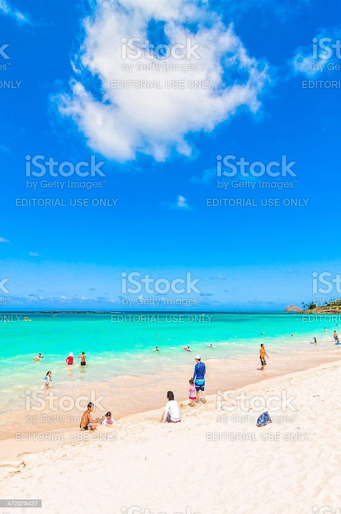 Kailua Beach in Oahu, Hawaii stock photo