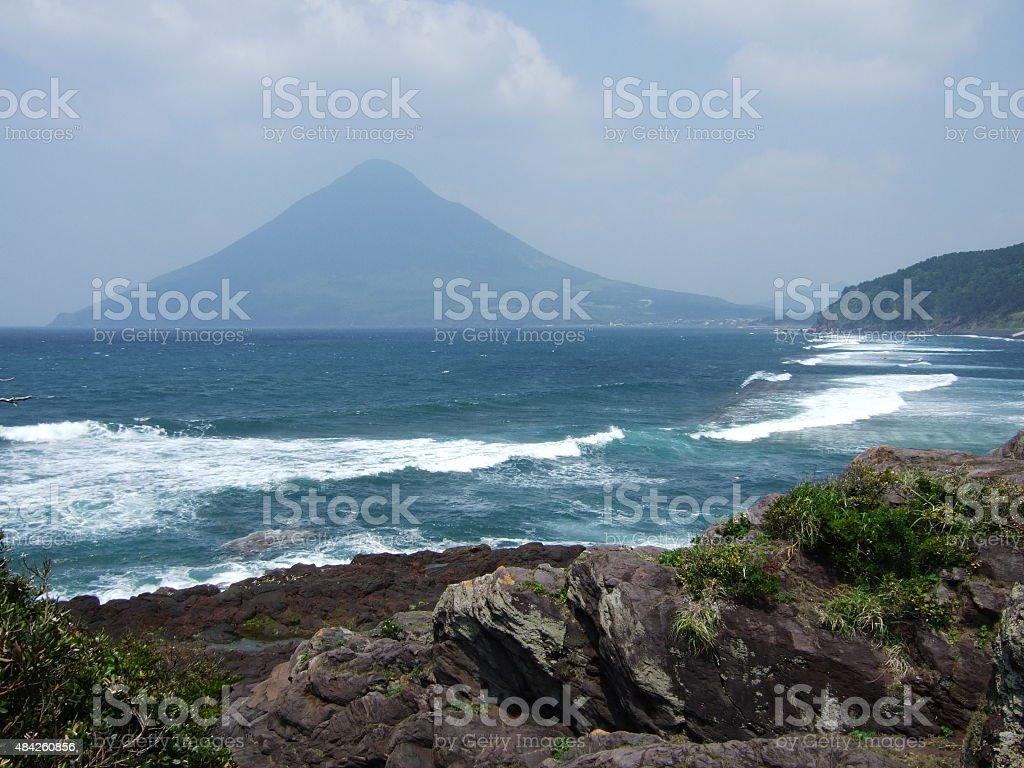 Volcán Kaimondake foto de stock libre de derechos