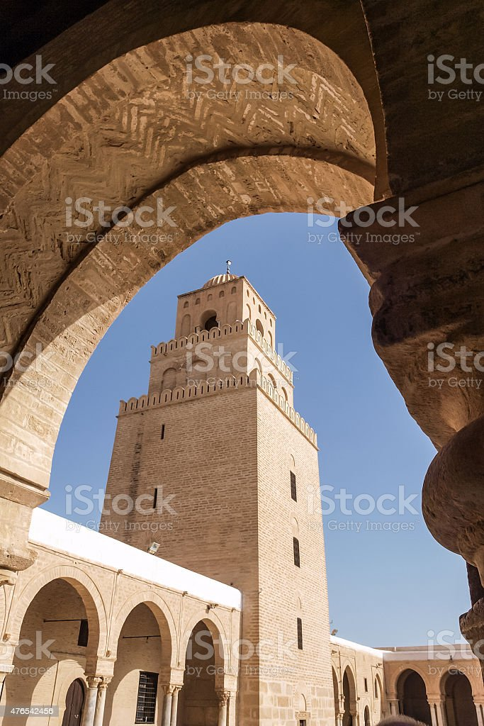 Kairouan Holy Mosque stock photo