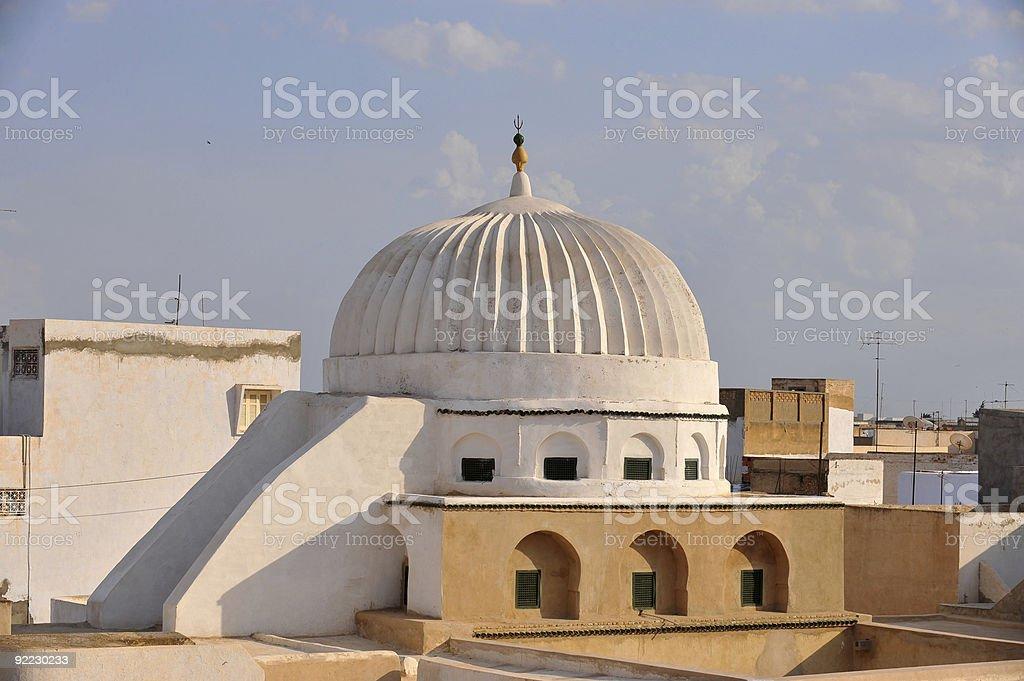Kairouan mosque royalty-free stock photo