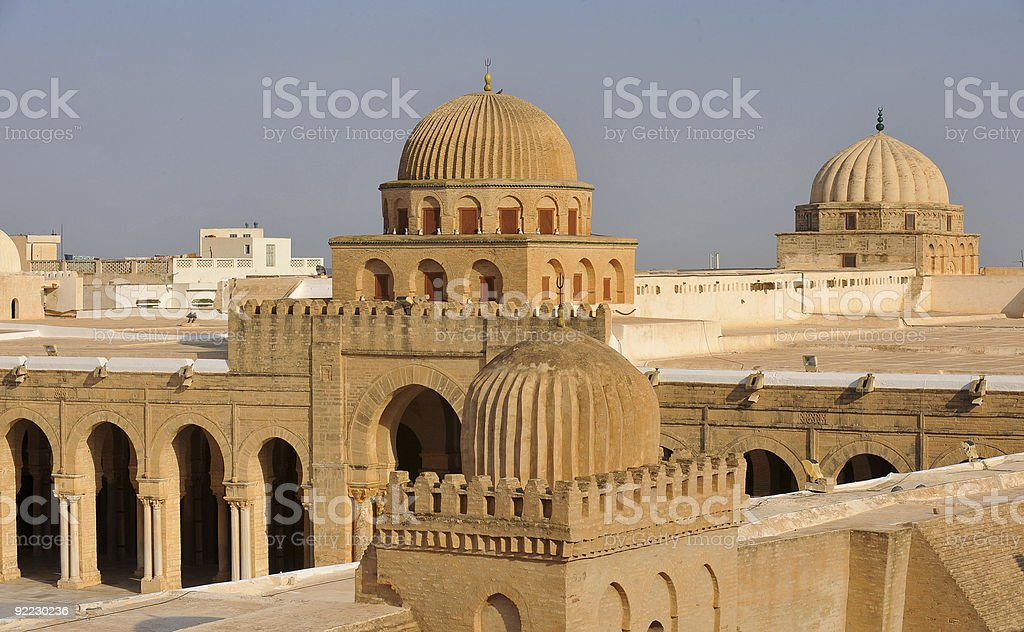 Kairouan mosque royalty-free stock photo