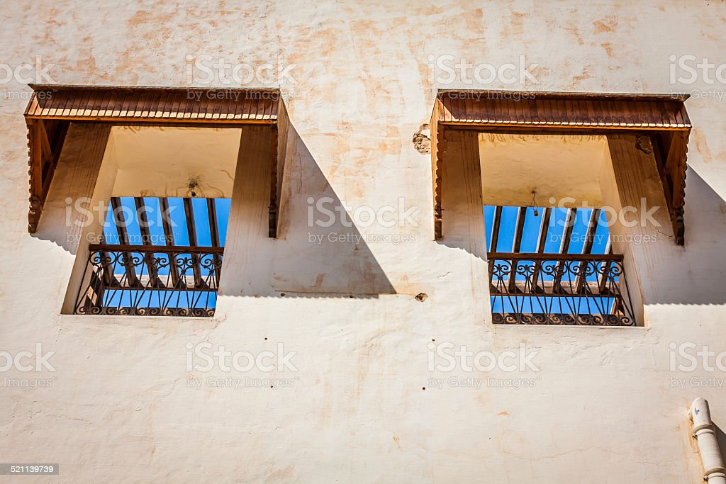 Kairouan window, Tunisia stock photo