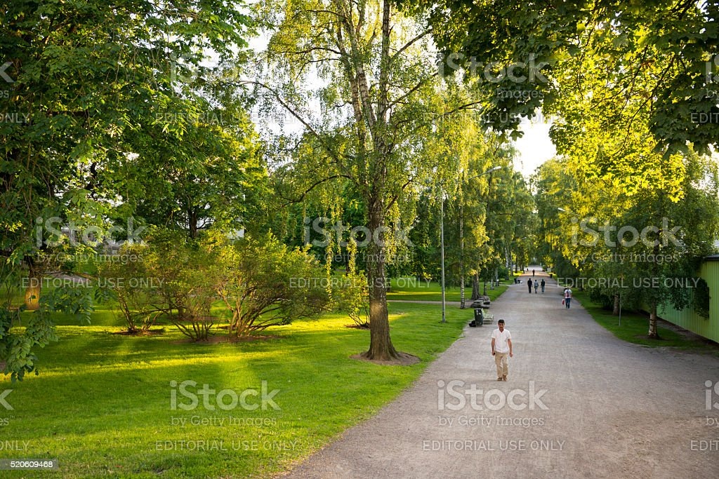 Kaisaniemi park in Helsinki, Finland stock photo