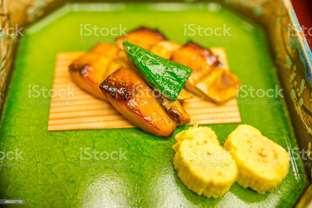 Kaiseki dinner course stock photo