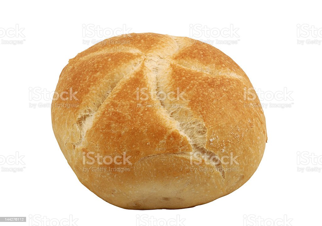 Kaiser Roll, isolated over white royalty-free stock photo