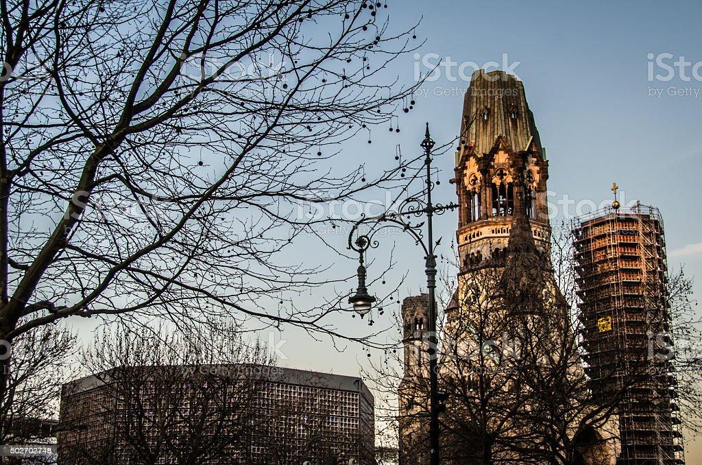 Kaiser Wilhelm Memorial Church - Berlin stock photo