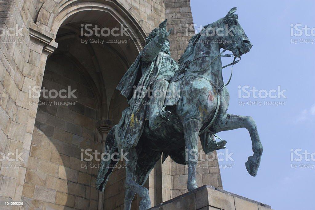 Kaiser Wilhelm Memorial stock photo