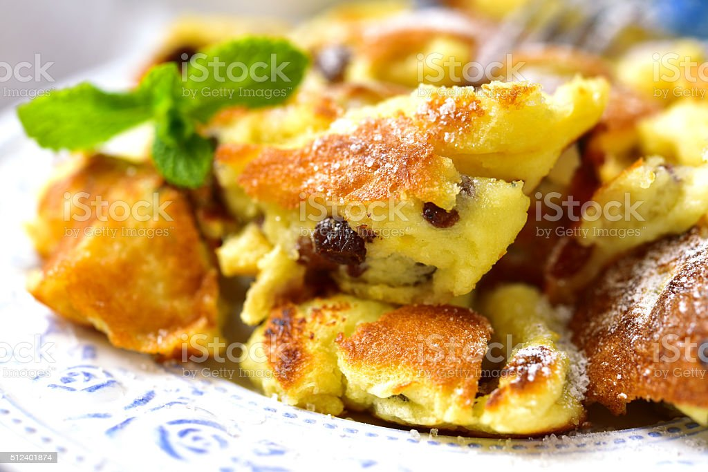 Kaiserschmarrn - traditional austrian pancake dessert. stock photo