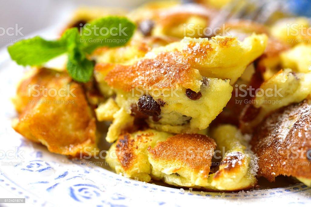 Kaiserschmarrn - traditional austrian pancake dessert. stock photo