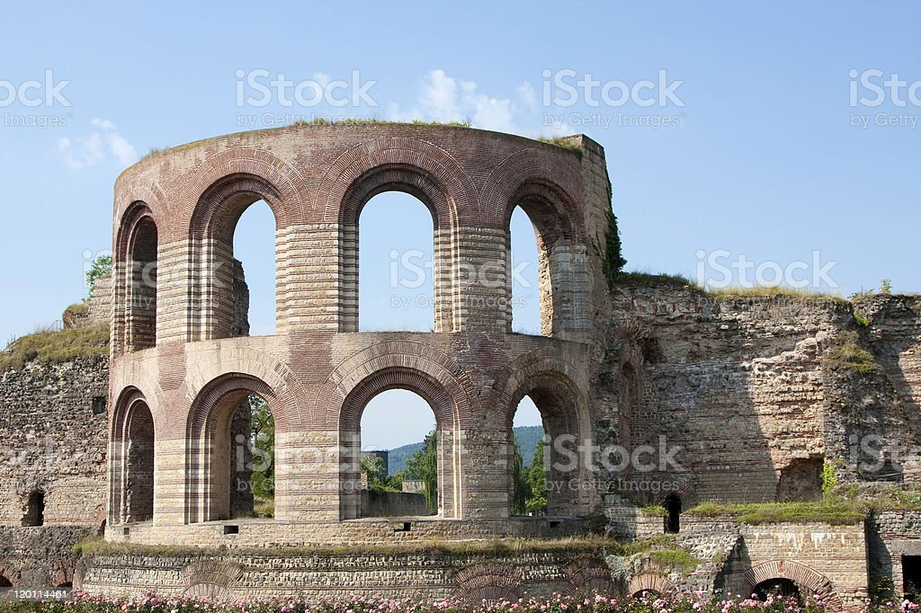 Kaiserthermen (Roman bathhouse, Trier, Germany) stock photo