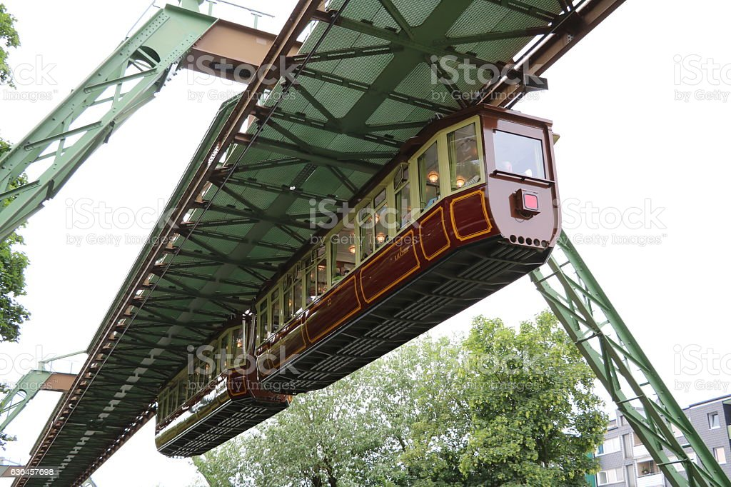 Kaiserwagen of the Suspension Railway Wuppertal, Germany stock photo