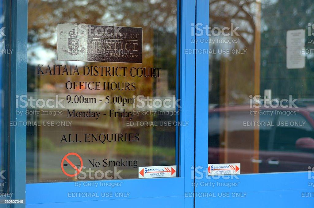Kaitaia District/Family Court - New Zealand stock photo