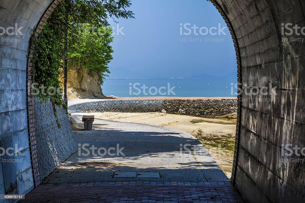 Kaiun Tunnel stock photo