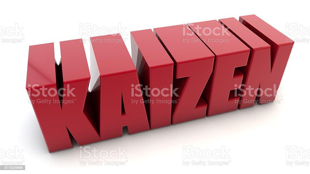 Kaizen quality concept stock photo
