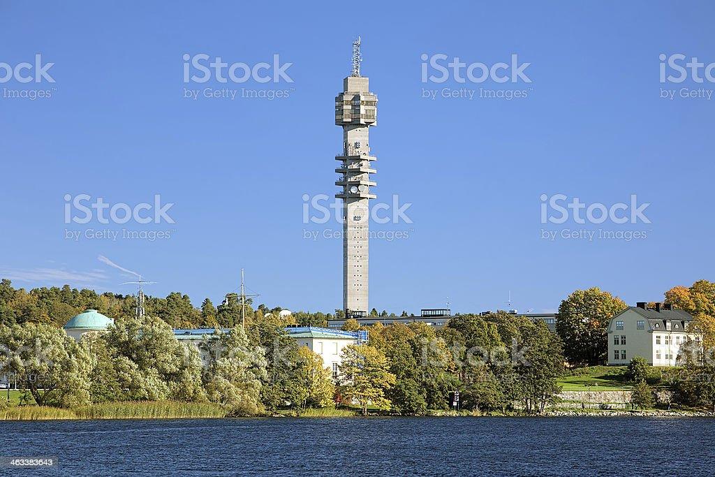 Kaknas TV tower (Kaknastornet) in Stockholm, Sweden stock photo
