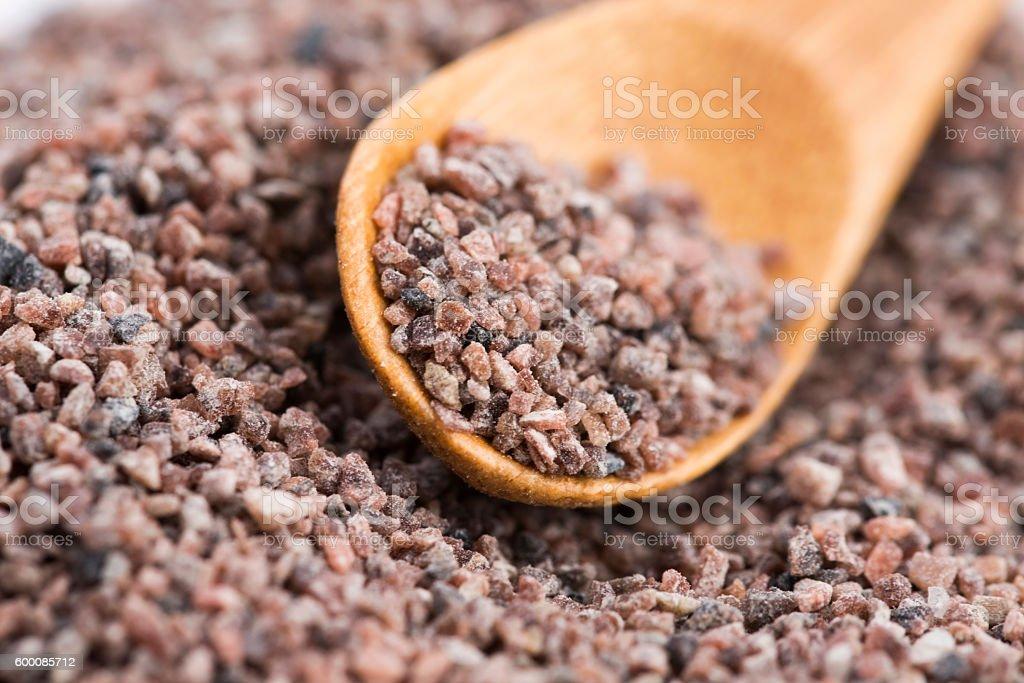 Kala namak or Black salt of South Asia stock photo