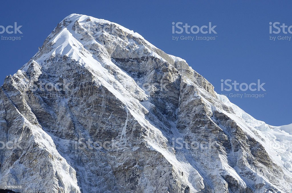 Kala Patthar mountain summit ,best point to view Mt. Everest royalty-free stock photo