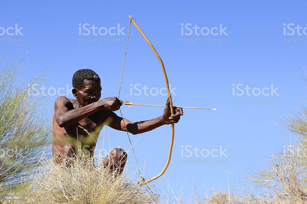 Kalahari bushman hunting stock photo