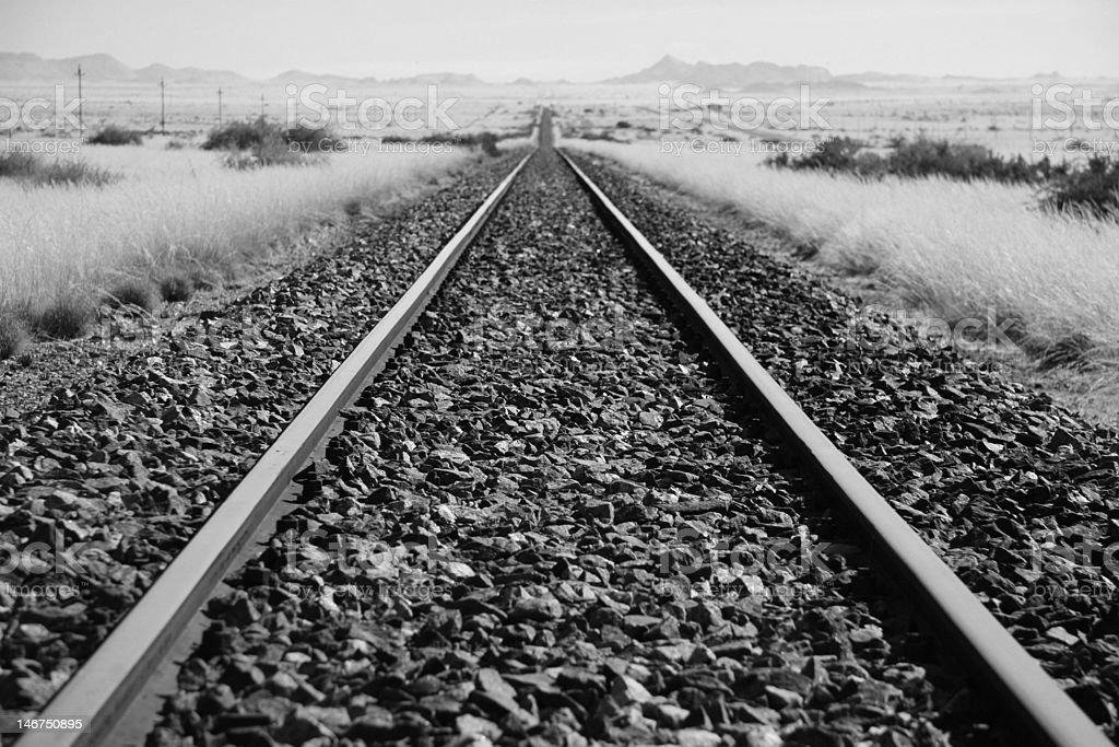 Kalahari Railway stock photo