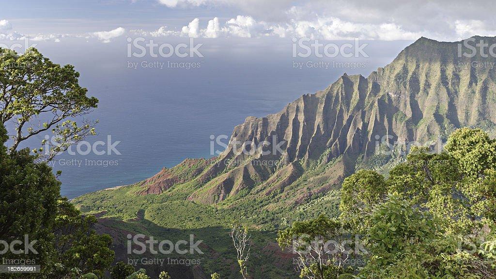 Kalalau lookout - Na Pali coast royalty-free stock photo