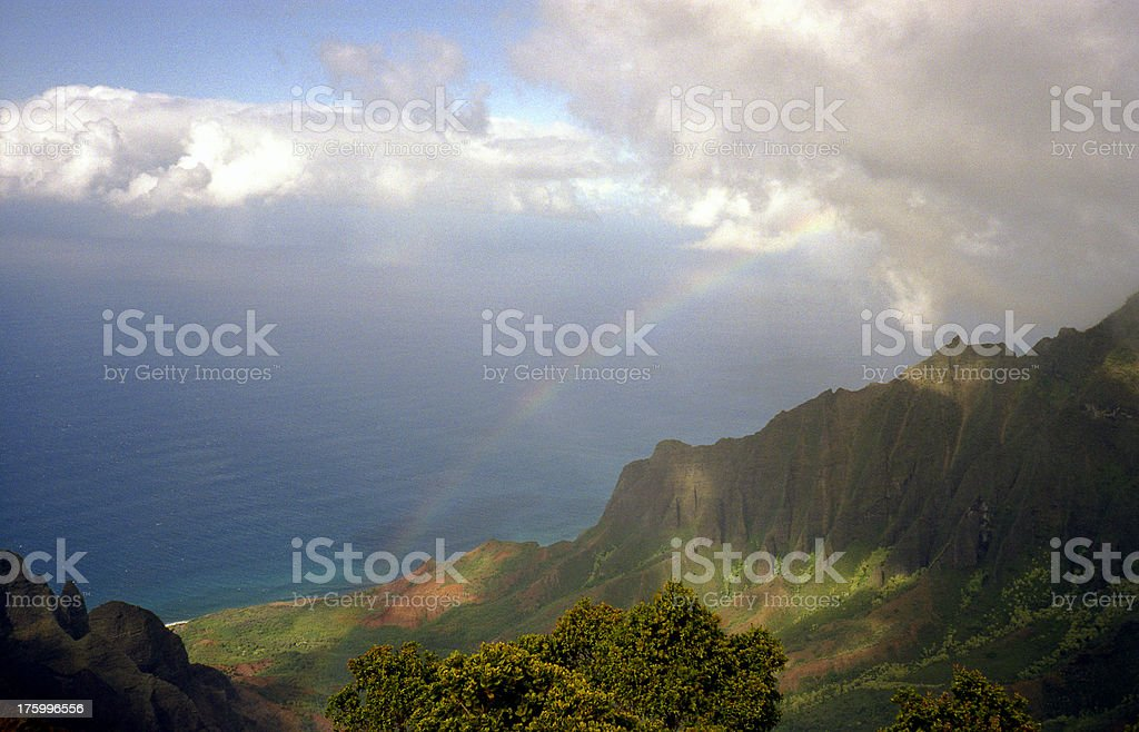 Kalalau Lookout, Napali Coast royalty-free stock photo