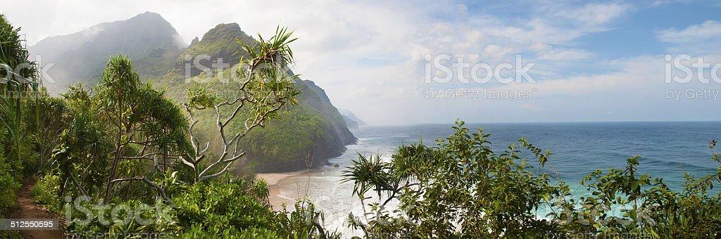 Kalalau Panorama stock photo
