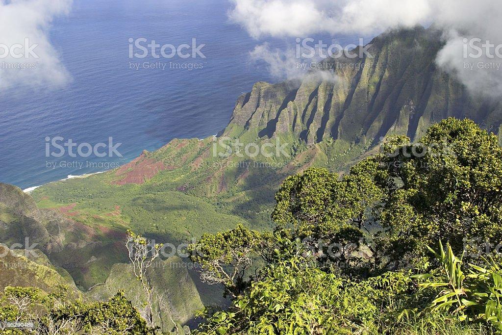 Kalalau Valley And Na Pali Coast, Kauai, Hawaii stock photo