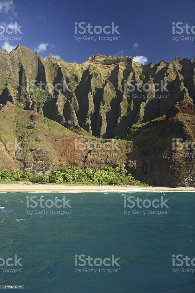 Kalalau Valley - Kauai, Hawaii royalty-free stock photo