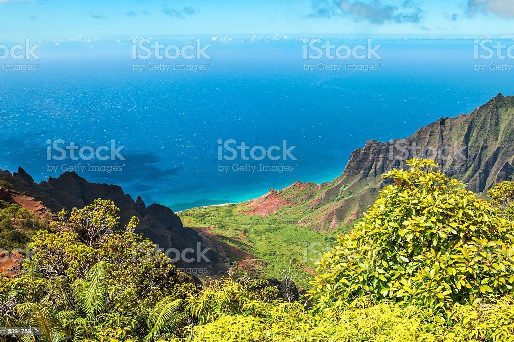 Kalalau Valley Kauai stock photo