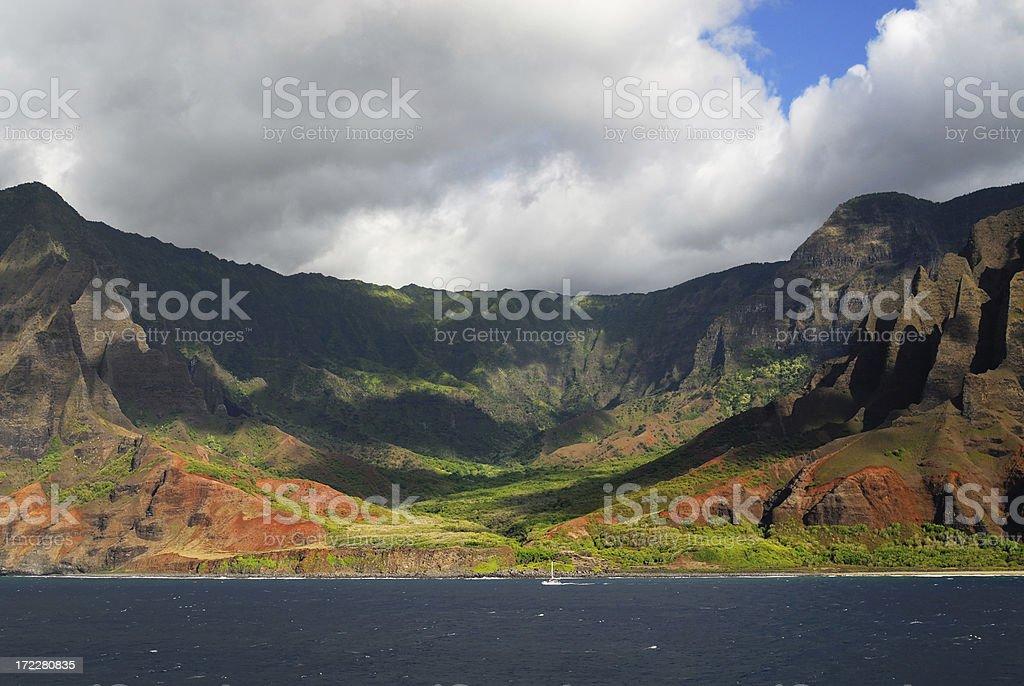 Kalalau Valley royalty-free stock photo