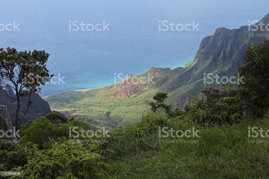 Kalalau Valley stock photo