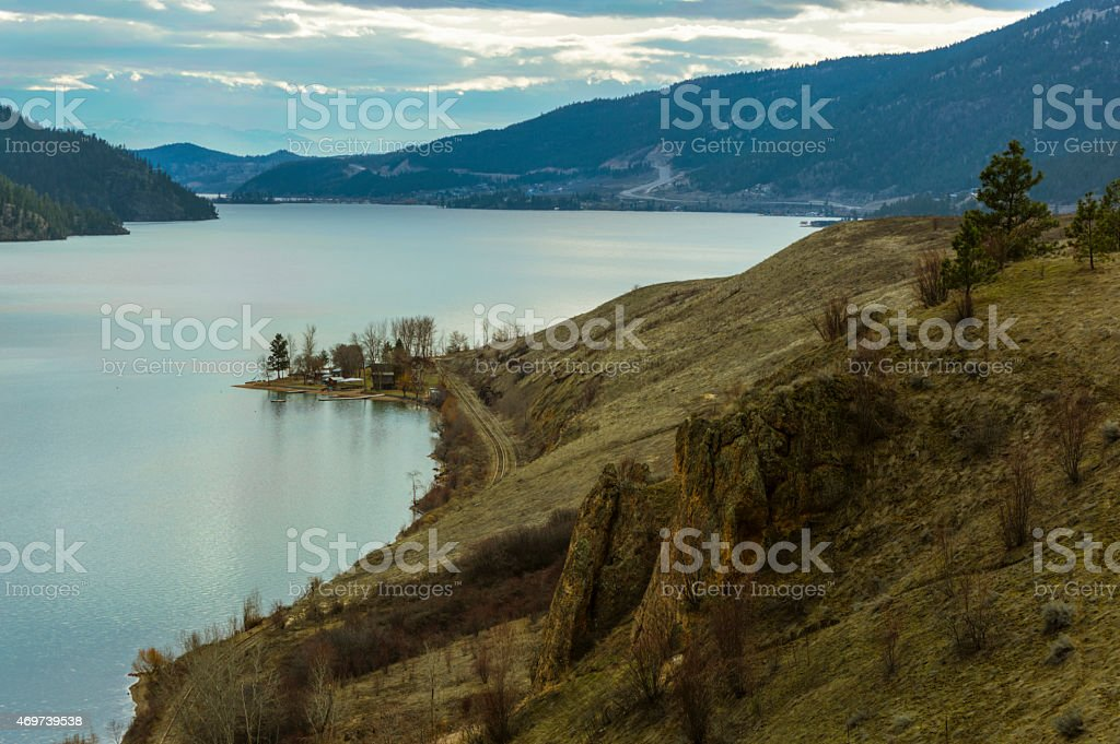 Kalamalka Lake in the Okanagan Valley stock photo