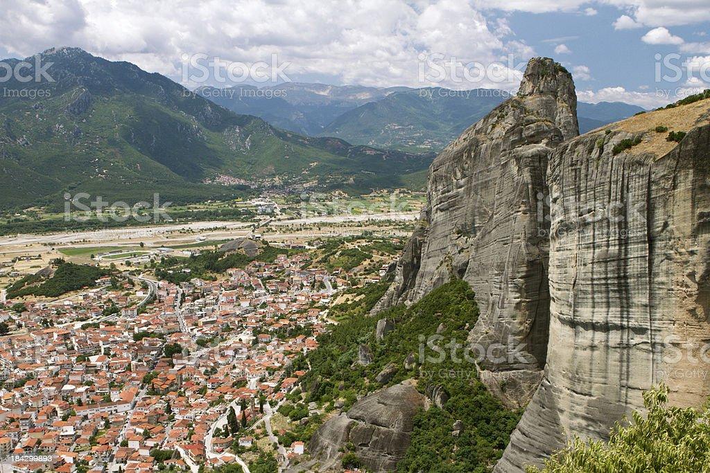 Kalambaka town in Greece stock photo