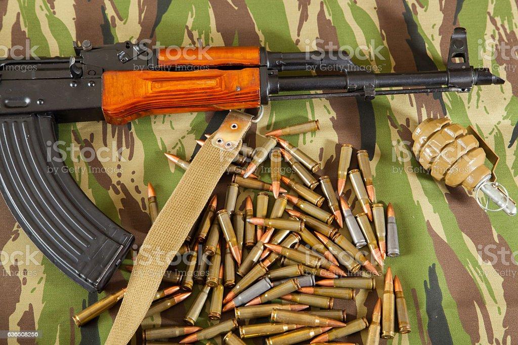 Kalashnikov AK-47 stock photo
