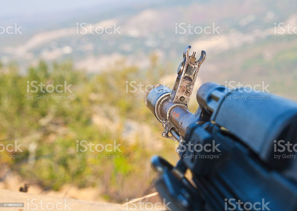 Kalashnikov assault rifle, AK-74 stock photo