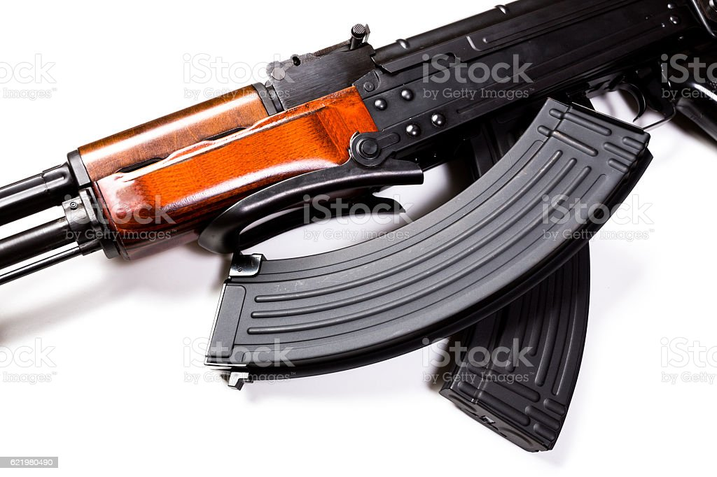 Kalashnikov machine gun stock photo