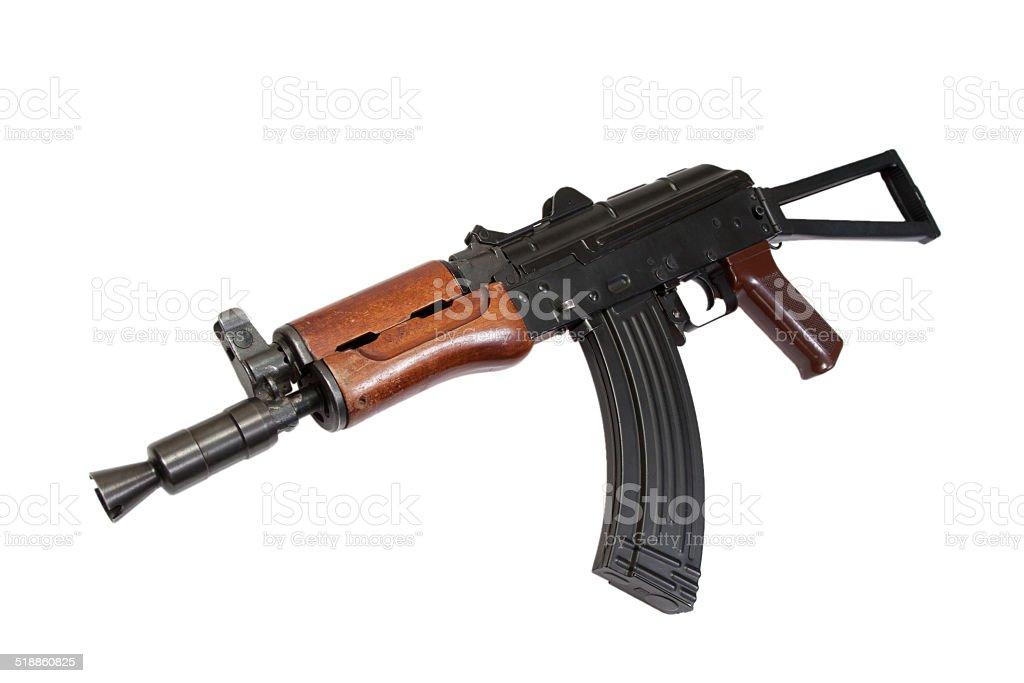 kalashnikov spetsnaz rifle isolated on a white background stock photo