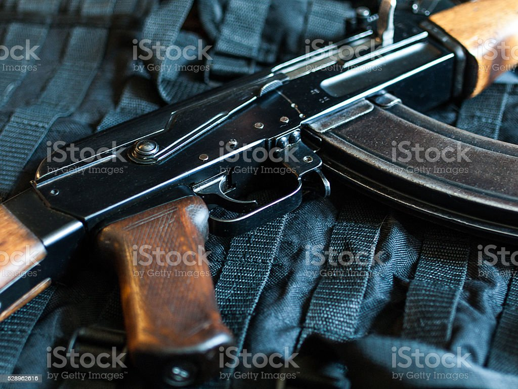 Kalashnikovs AK-74 stock photo