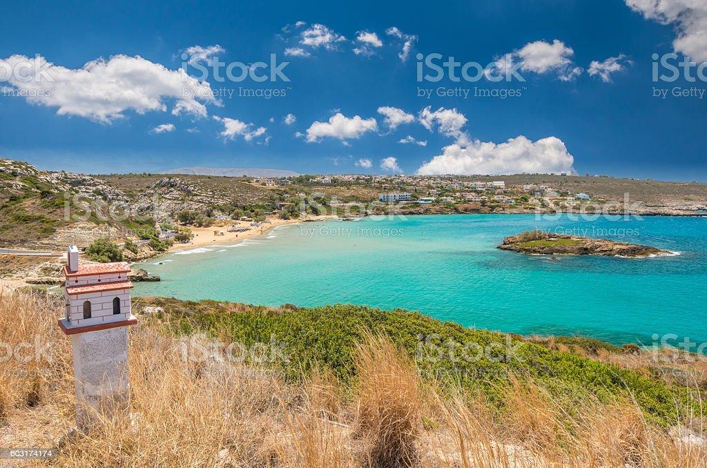 Kalathas beach, Crete Island, Greece stock photo