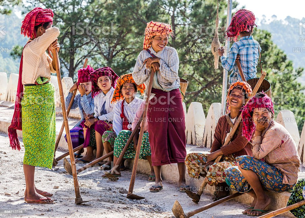 Kalaw Shan women Myanmar stock photo