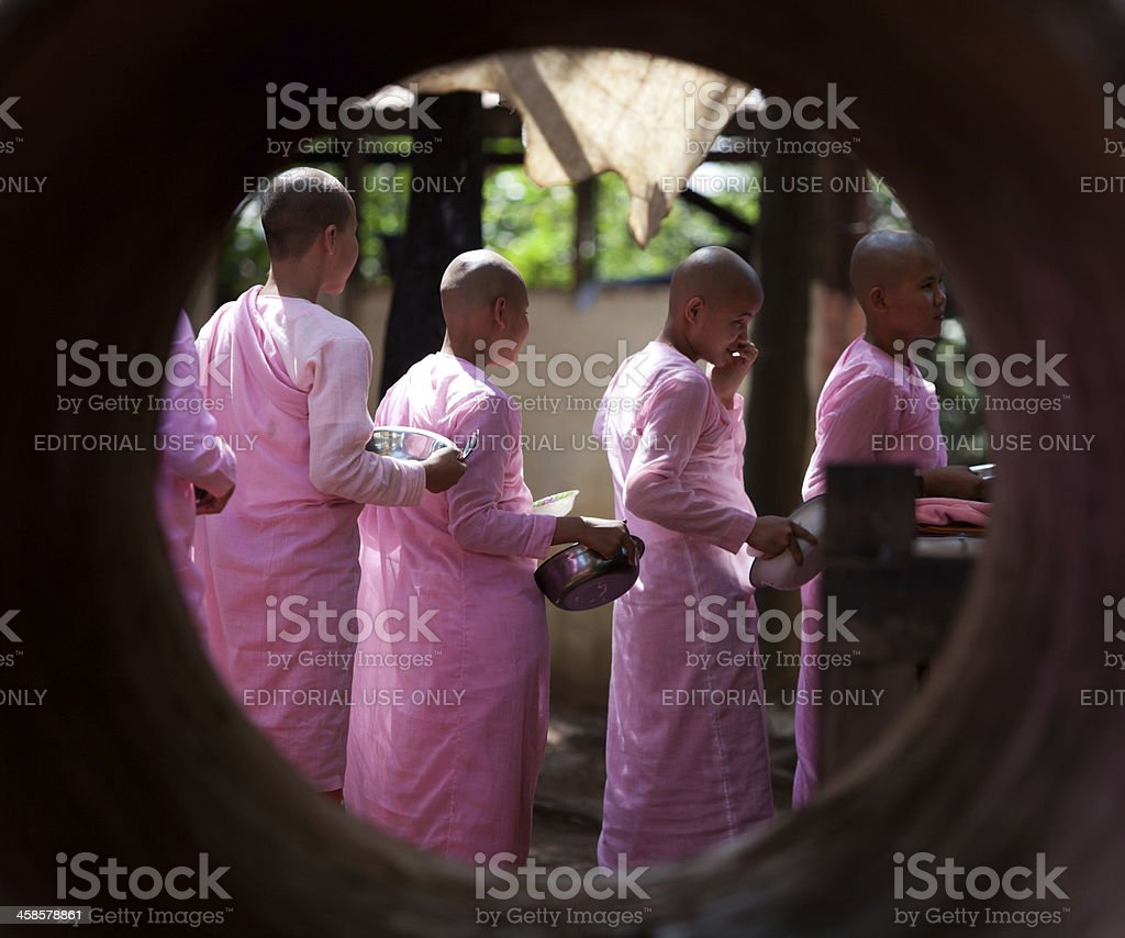 Kalaywa Tawya Monastery, Myanmar royalty-free stock photo