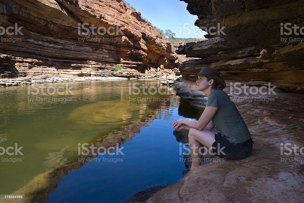 Kalbarri Gorge, Western Australia stock photo