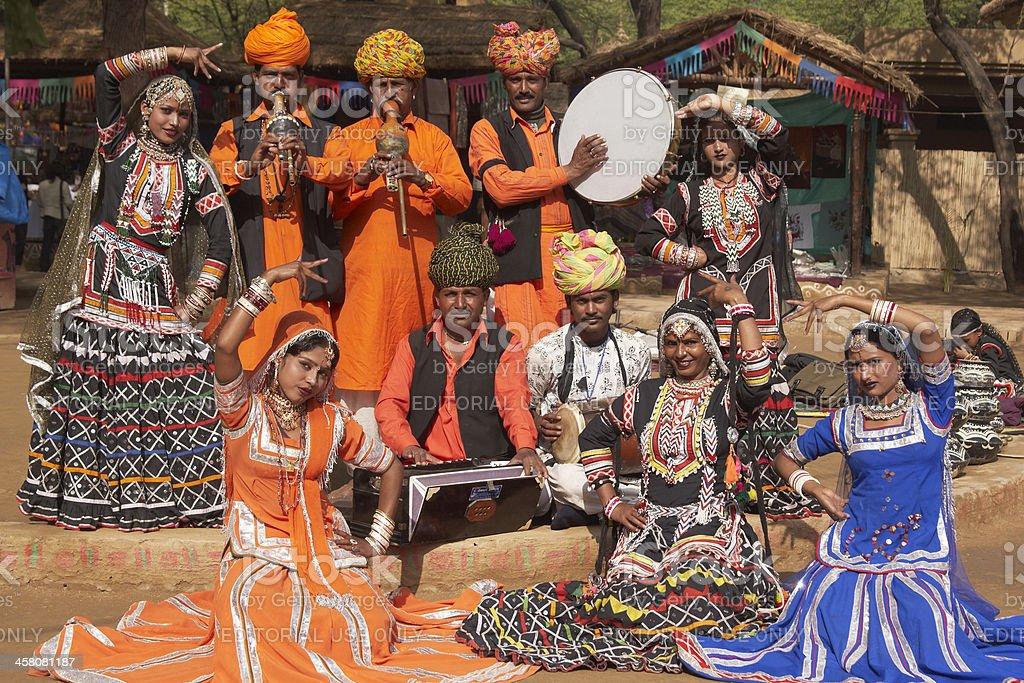 Kalbelia Dance Troupe royalty-free stock photo