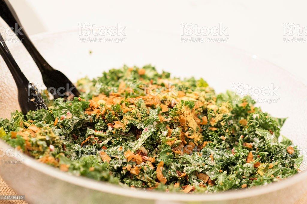 Kale caesar salad stock photo