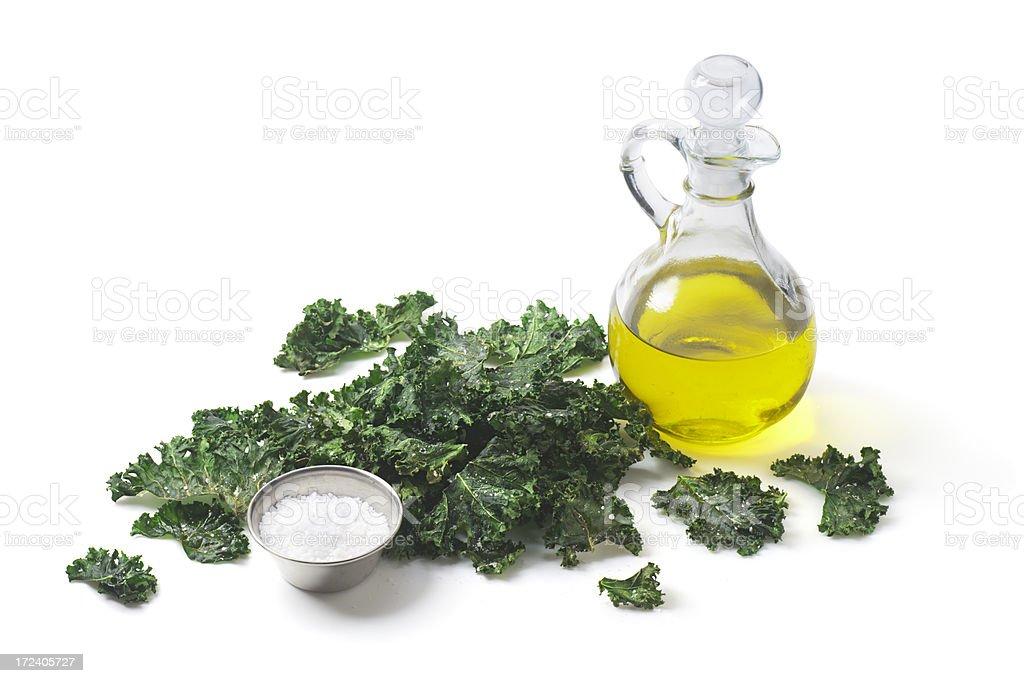 Kale Chips royalty-free stock photo