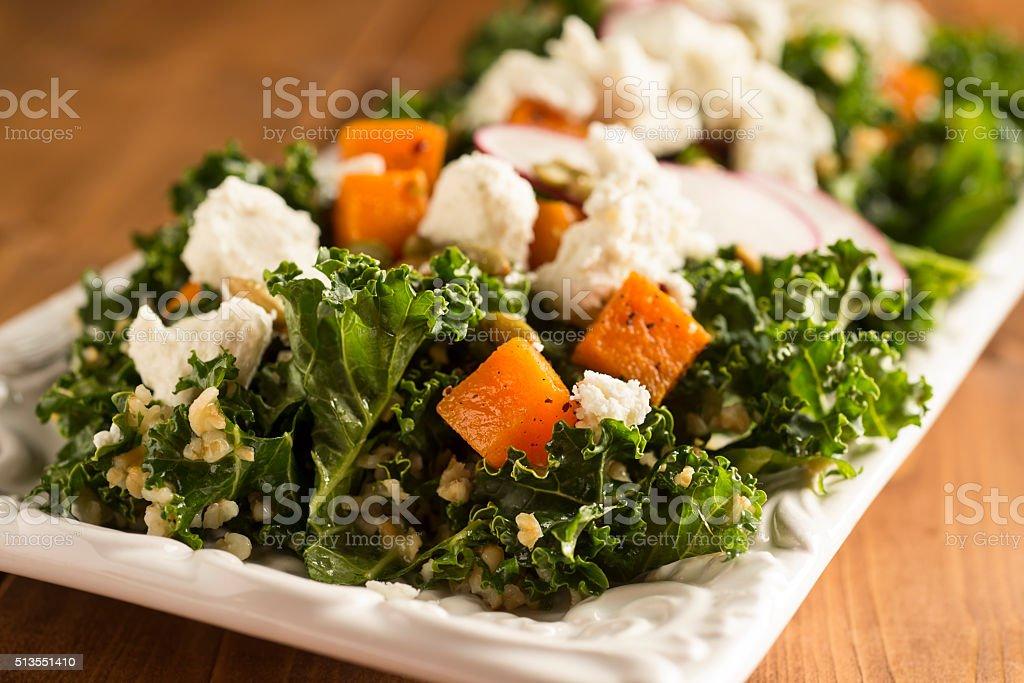 Kale Freekeh Salad stock photo