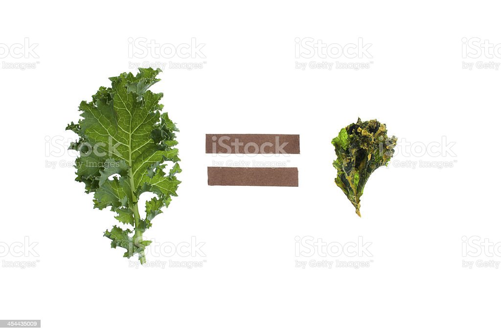 Kale leaf equals royalty-free stock photo