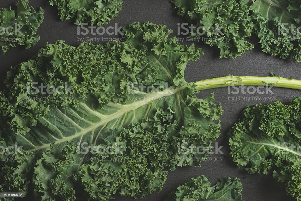 Kale Leaves Multiple Background stock photo
