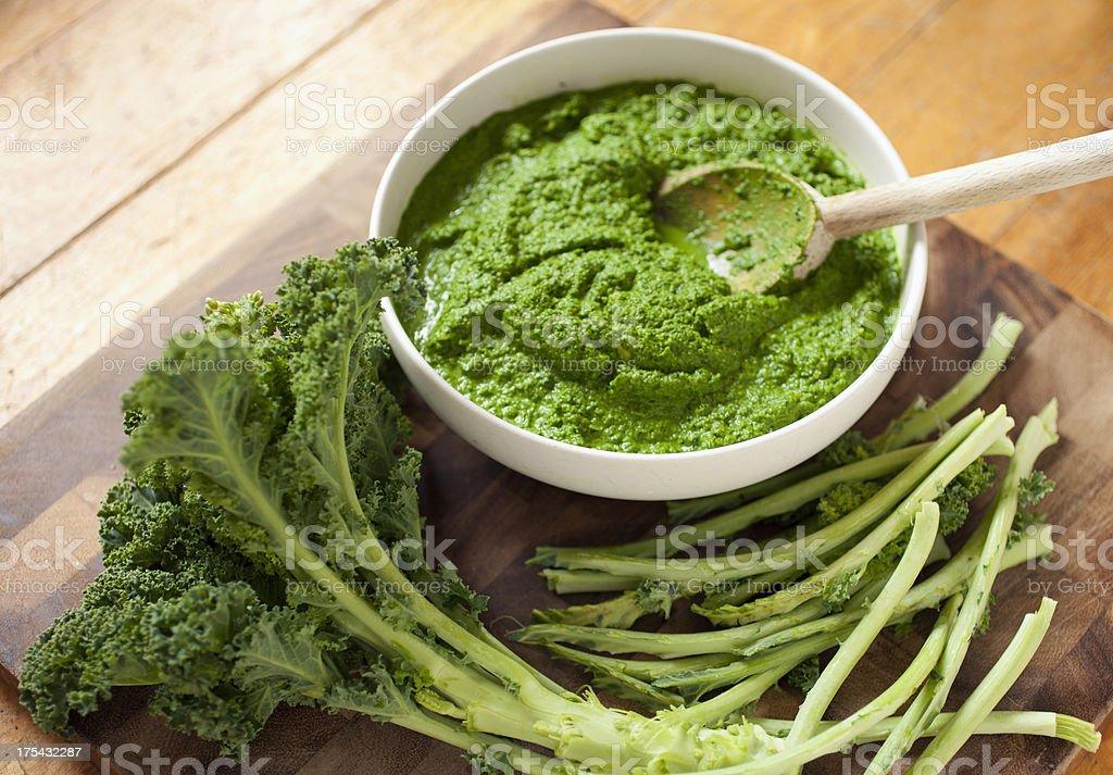Kale pesto stock photo